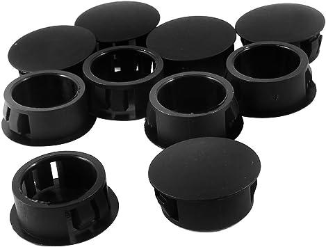 """25 Plug Pack Blanking Plug 3//8/"""" Panel Plugs Rigid Nylon Dome Plugs"""