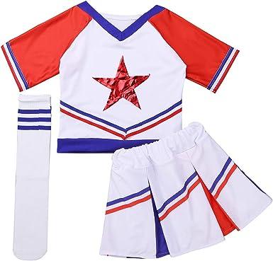 iixpin 3 pcs Disfraces de Animadora Fútbol Tenis Baloncesto Niñas ...