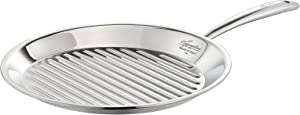 Lagostina ACCADEMIA LAGOFUSION Grill Pan 28 cm Stainless Steel 18/10 Suitable for All Heat Sources Including Induction
