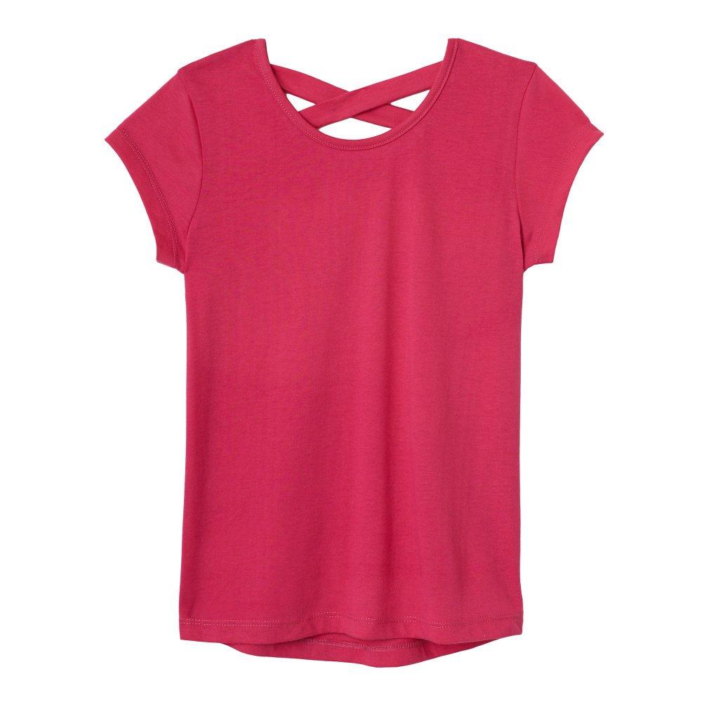 d32693f3982 Amazon.com  French Toast Girls  Short Sleeve Cross Back Top  Clothing
