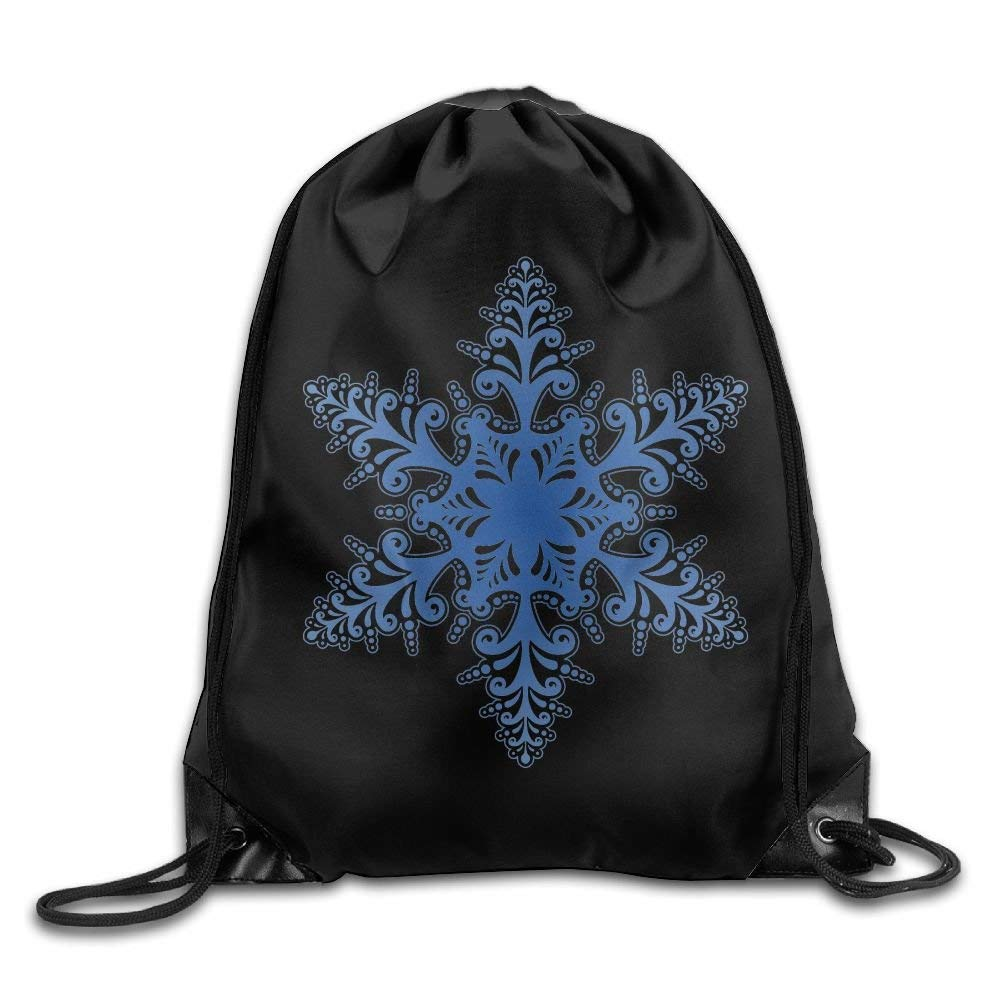 fcc9428c64f Amazon.com | surwae Drawstring Bag Gym Bag Travel Backpack, Snowflake, Cute  Gym Bag for Women Men Adults | Drawstring Bags