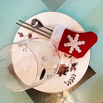 Feichen 12 piezas Funda Cubierta Para Cuchillo y tenedor Cuberteria Vajilla Diseño de media de la Navidad Decoracion de Mesa de comedor Decoración Navidad: ...