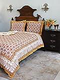 Orange Blossom~ Persian Mediterranean Floral Print King Duvet 108x90