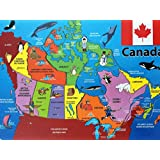 Map of Canada Jigsaw Wooden Puzzle