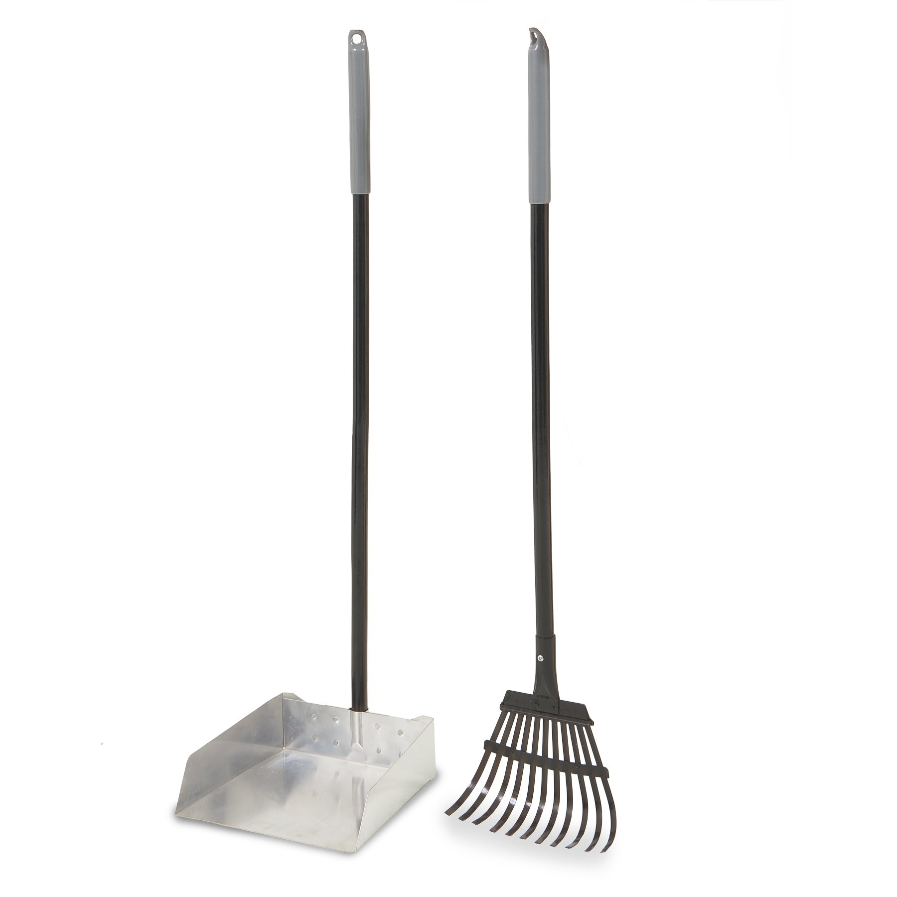 Petmate Clean Response Aluminum Rake and Pan, Large by Petmate