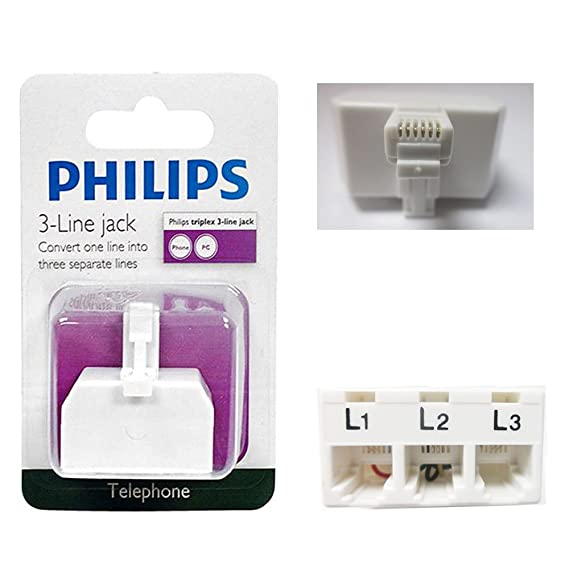 Amazon.com: 3 Way Phillips Phone Jack Splitter Telephone Line ...