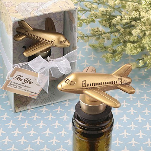 40 Airplane Design Bottle Stoppers Baby Wedding Favors by Fashioncraft