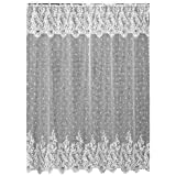 Heritage Lace Floret 72-Inch by 72-Inch Shower Curtain, White
