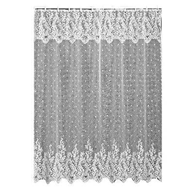 Heritage Lace Floret 72-Inch by 72-Inch Shower Curtain, Ecru - Shower curtain Fine-gauge lace Made in USA - shower-curtains, bathroom-linens, bathroom - 61Me8g7yqkL. SS400  -