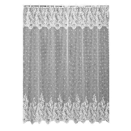 (Heritage Lace Floret 72-Inch by 72-Inch Shower Curtain, White)