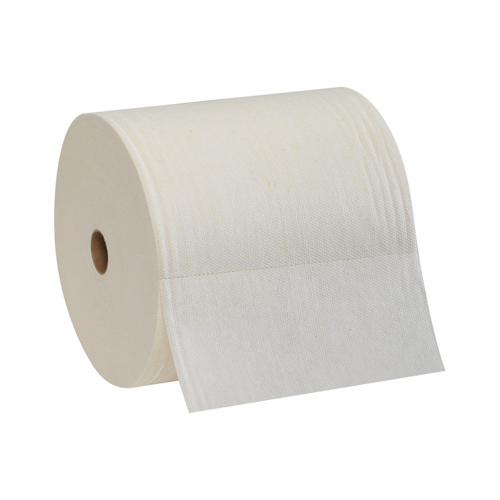 Brawny Professional F800 Disposable Cleaning Towel, 29601, Long Distance Roll, White product image