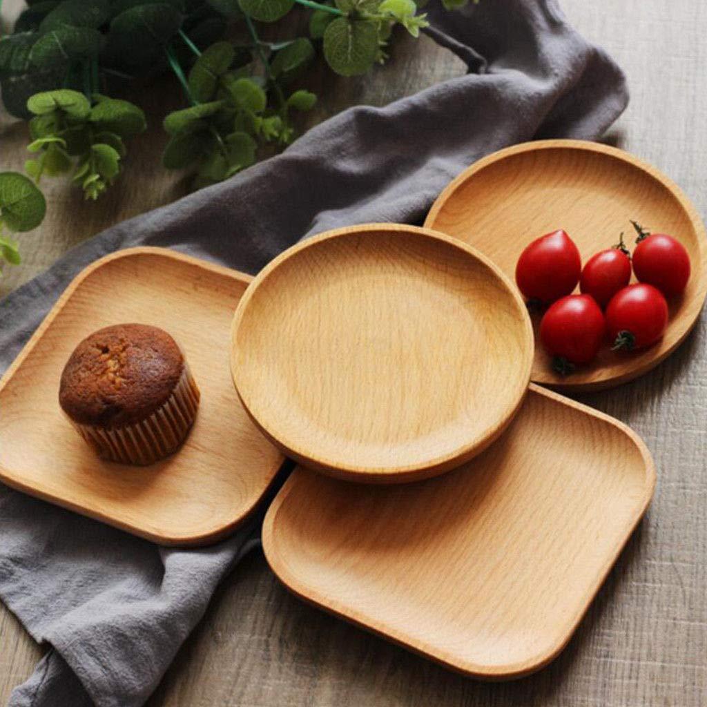 Bazzano Round Wood Plate Dessert Best Tray Fruit Platter Bread Dish Plate Serving Best Tray