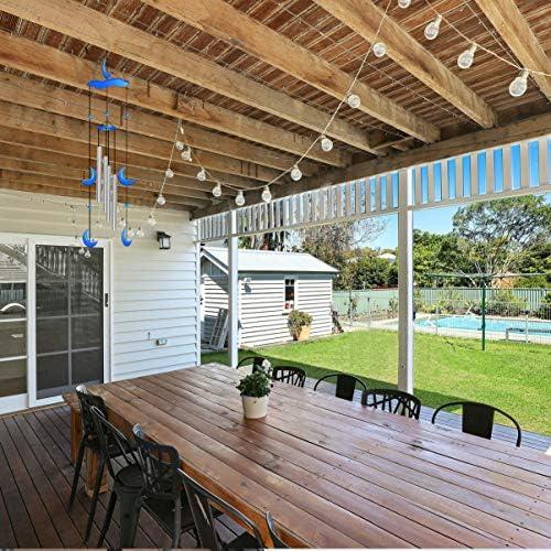 Yarnow 10ピース3. 9×0. 3インチの風鈴管セット耐久性のあるポータブル繊細な吊り装飾空の風鈴作りキット家庭菜園屋外吊り装飾