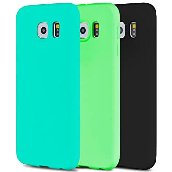 Anfire 3X Funda para Samsung Galaxy S6 Carcasa Silicona Gel TPU Ultra Delgado Suave Mate Goma Protectora Caso Flexible Caja Ligero Back Case Cover ...