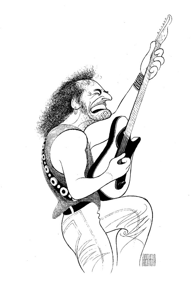 AL HIRSCHFELD Hand Signed, BRUCE SPRINGSTEEN, Limited-Edition Lithograph THE MARGO FEIDEN GALLERIES LTD. New York