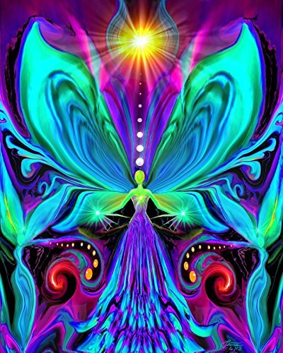 Rainbow Wall Art, Angel Wall Decor, Chakra Energy Art,- vivid rainbow wall art decor