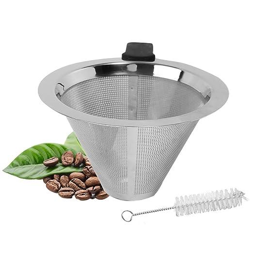 Yosoo - Filtro de acero inoxidable para té, silicona, apto para ...