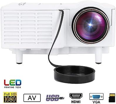 Mugast UC28 Mini Proyector Portátil HD LED 1080P Vídeo Proyector ...