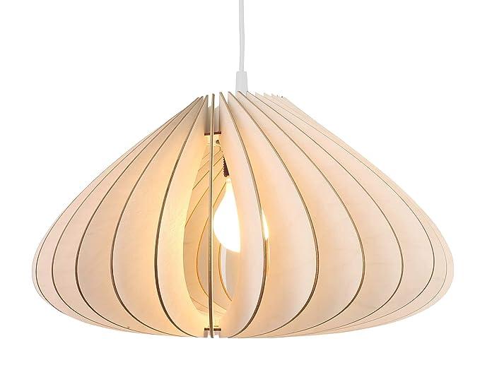 Lampadario Bianco Legno : Wodewa lampadario legno sospensione luna i naturali lampadari a