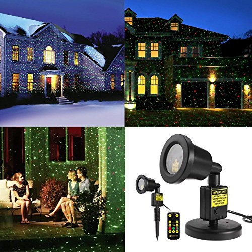(AOSTAR Christmas Laser Light Remote Control Waterproof LED Outdoor Motion Laser Light Projector for Christmas Parties, Valentine's, Home, Garden and Landscape Decorations)