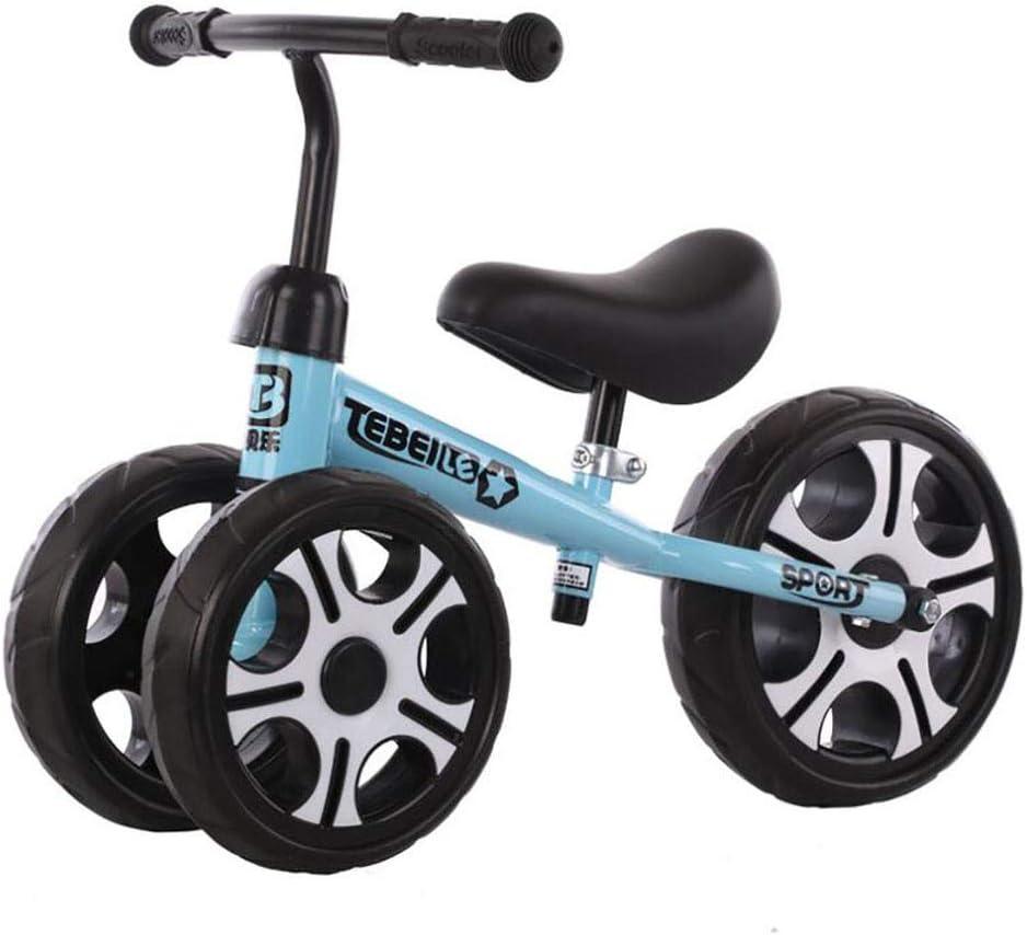TongT16 Bicicleta Sin Pedales para Niños Bicicleta Equilibrio Bebé Baby Balance Bike Triciclo Niño Ajustable del Manillar del Asiento 1-3 Años Primer Regalo De Cumpleaños