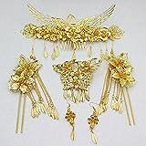 Chinese wedding costume bridal headdress suit Coronet dragon and phoenix gown hair accessories jewelry accessories Xiu clothing cheongsam wedding