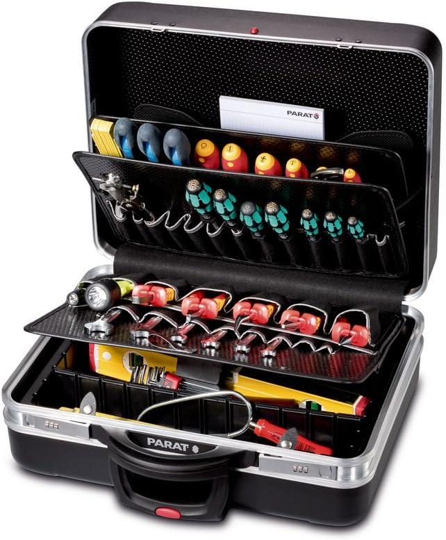 Parat 489550171 caja de herramientas Negro De plástico - Cajas de herramientas (Negro, De plástico, 50 bolsillos, Moisture-resistant, Resistente a golpes, 490 mm, 250 mm)