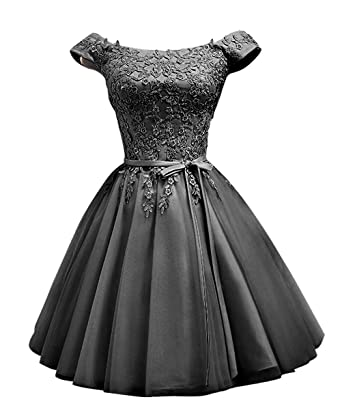 LanierWedding Short Homecoming Dresses Cap Sleeves Satin Lace up Prom Dresses for Party, Bridesmaid,