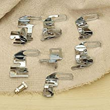 Raza Modern Rolled Hem Presser Foot Set For Singer Janome Sewing Domestic Machine Part Sewing Machine Sewing Tools Accessory Stitcher