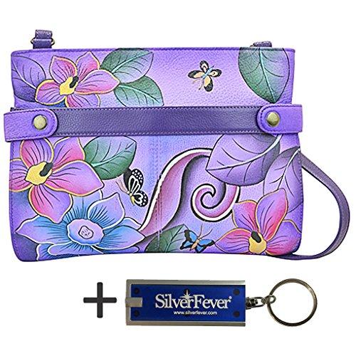 Cross Medium Key Anuschka Handbag Body Chain Festive 3 by Floral Anna amp; EpYnqw85x