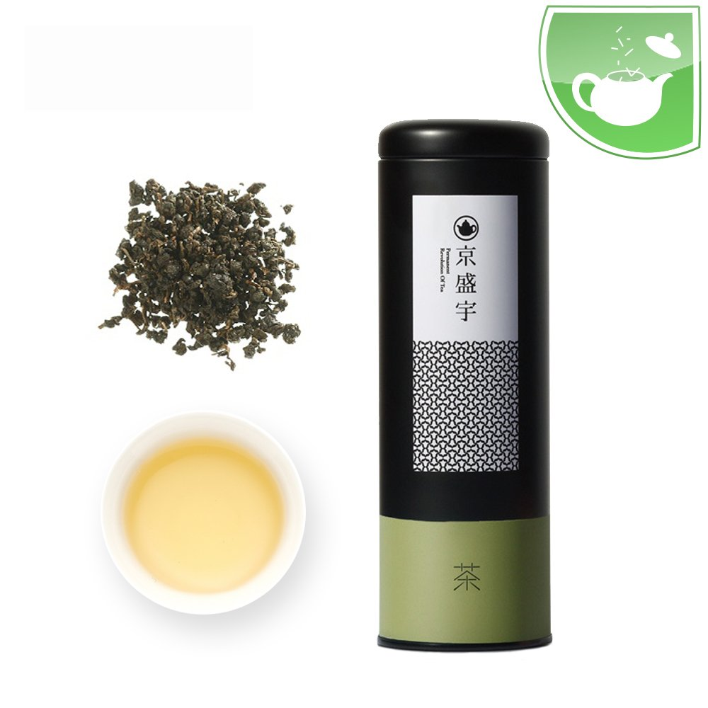 Taiwan Oolong Tea- Canister of Lightly Roasted Loose Leaf Sanlinsi Oolong Tea, 100g from Jing Sheng Yu