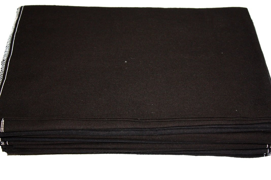 Auto Fender Cover and Seat Protector, Black 48-Pieces, Eco-friendly 100% Soft Natural Cotton, protects auto surfaces, car interiors, seats, ideal for mechanic shop, garages, body shops, DIY projects