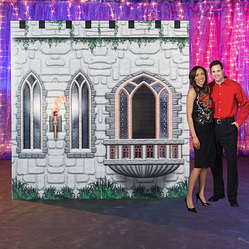 9 ft. 4 in. Medieval Fantasy Knights Castle Kingdom Standup Photo Booth Prop Background Backdrop Party Decoration Decor Scene Setter Cardboard Cutout