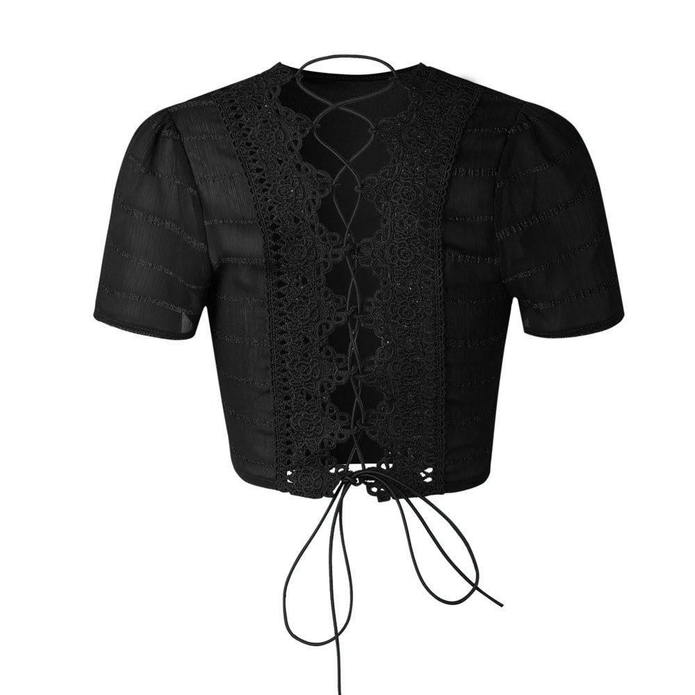 Willow S Womens 2019 Fashion Casual Halter Bandage Short Sleeve Top Shirt Blouse Shorts Pant 2PCS Set