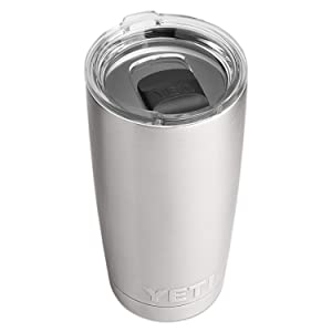 YETI f6766 Rambler Stainless Steel Vacuum Insulated Tumbler with Magslider Lid, 20 oz