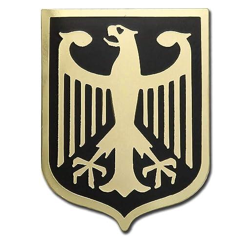 Amazon.com: Bañado En Oro De Alemania águila Escudo de armas ...