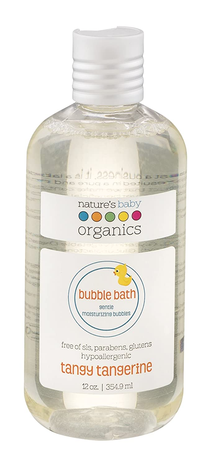 Nature's Baby Organics Moisturizing Bubble Bath, Tangy Tangerine, 12 oz. | Gentle, Soft, Rich, Hypoallergenic | No Harsh Synthetic Chemicals, Parabens, SLS, or Glutens | Gifts for Baby & Wife Natures Baby Organics B002WC8EU2