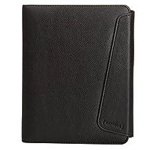 Kapsule Universal eReader Folio Case for Kobo Aura H2O, Kobo Glow HD & Kindle Paperwhite - Black