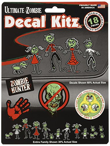 CHROMA 5393 Zombie Family Colorized Decal
