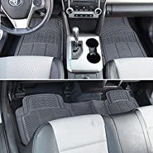 BDK M783GR ProLiner Heavy Duty Rubber Floor Mats Liner for Auto-All Weather 3 Piece Set (Gray)