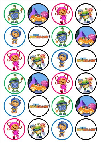 (24 Team Umizoomi Edible PREMIUM THICKNESS SWEETENED VANILLA, Wafer Rice Paper Cupcake)