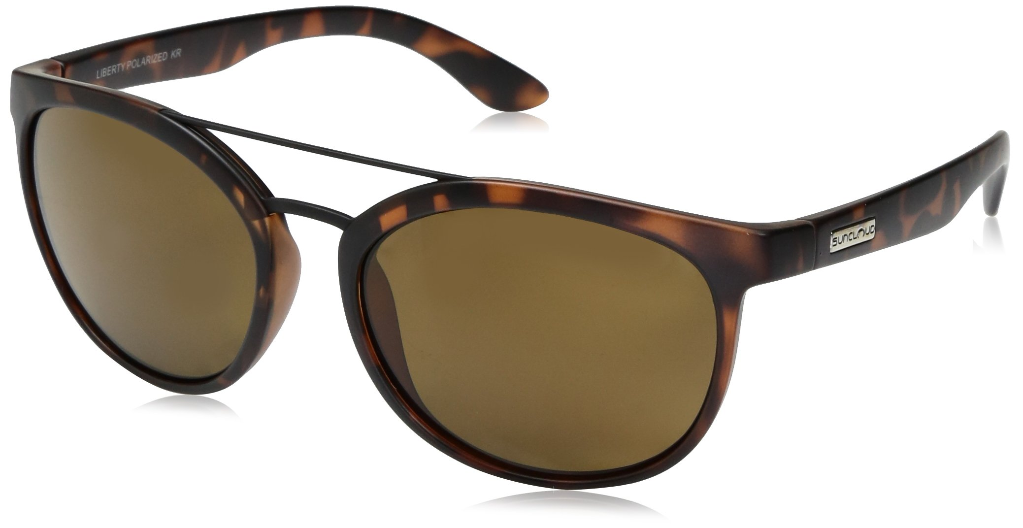Suncloud Liberty Sunglasses, Matte Tortoise Frame/Brown Polycarbonate Lens, One Size