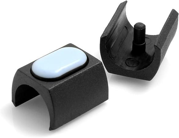 PTFE pour fauteuils luge//chaises//meubles avec des pieds arrondis d/'un diam/ètre de 24-25 mm Design61 Lot de 4 patins en polyt/étrafluoro/éthyl/ène