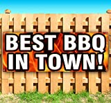 Best BBQ In Town 13 oz heavy duty vinyl banner sign with metal grommets, new, store, advertising, flag, (many sizes available)