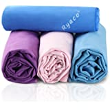 Ryaco [Quick Dry & Antibacterial] Microfiber Travel Towel for Sports, Hair, Gym, Fitness, Yoga, Swimming - Super Absorbent & Premium Quality! with Free Water Resistance Storage Bag to Kids, Women, Men