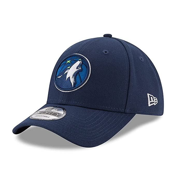 promo code 2cbef b2069 Amazon.com   New Era Minnesota Timberwolves Official Team Color The League  9FORTY Adjustable Hat Navy   Clothing