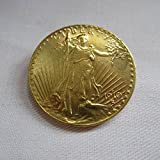 1910-D USA $20 Gold-Plated Saint Gaudens Twenty Dollars or Double Eagle Coins COPY