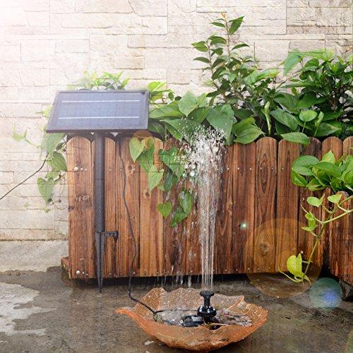 LEDGLE 5W Solar Water Fountain Pump Decorative Garden Water Pump With  Colorful Light, Inbuilt Battery, Efficient Solar ...