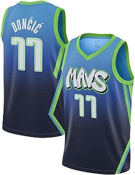 Hombre Ropa de Baloncesto NBA Dallas Mavericks 77 Doncic Jersey ...