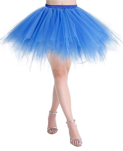 c1789d533 MuaDress Mini Falda Enagua Mujer Cancan Vintage para Vestido Rockabilly  Disfraces